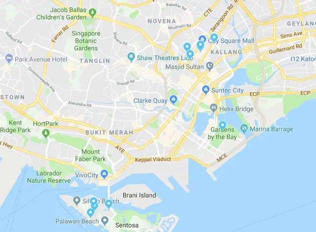 Places we visited in Singapore