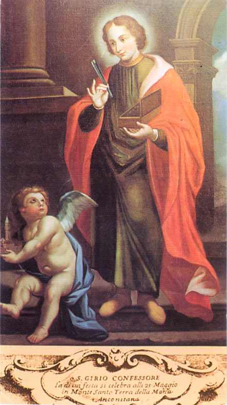 Santino con l'immagine di S. Girio