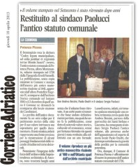 Corriere Adriatico - cronaca locale del 18-4-2013.