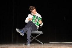 Lorenzo Bosica all'organetto. Foto di Aido Consolani