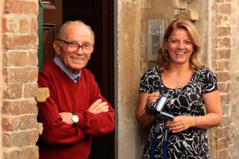 Remo Galvani con la figlia Emanuela. Foto di Aido Consolani.