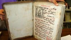 Particolare dell'Antifonario del 1544. Foto Simona Ciasca.