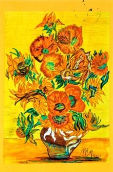 Lavoro dipinto da Nelide Mazziero nel 2001.