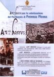 Locandina del Comune di Potenza Picena per far conoscere l'iniziativa Art Bonus.