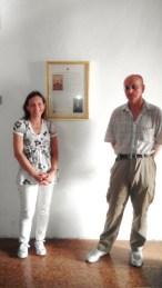 Simona Ciasca e Paolo Onofri autori del testo nel foyer dell'Auditorium Ferdinando Scarfiotti.