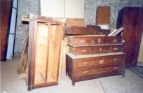 Comò. Sotterranei di San Francesco prima del lavoro di ripulitura del 1996. Archivio fotografico Ufficio Economato Potenza Picena.