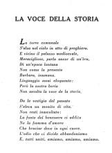 Poesia di Norberto Mancini dedicata alla Torre Civica di Piazza Matteotti dal titolo la Voce della Storia, tratta dal libro Visioni Potentine del 1958