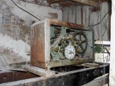 Interno torre civica. Vecchio orologio Roberto Trebino.