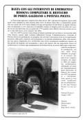 Volantino di denuncia del degrado della Porta di Galiziano.