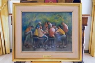 Luis Dottori, Truco, 1995, pastello su carta, cm 60x40 L. 8 maggio 2016 donazione quadro di Luis Dottori al Comune di Potenza Picena. Foto di Sergio Ceccotti.