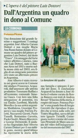 Il Corriere Adriatico - cronaca locale - domenica 19 giugno 2016.