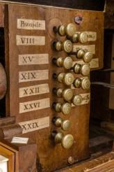 Organo da sala Giovanni Fedeli del 1757 - particolare. Foto Sergio Ceccotti.