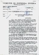 Letttera del 16-4-1974 del Sindaco Gabriele Nocelli alla Soprintendenza ai Monumenti di Ancona. ASCPP.