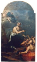 San Nicola da Tolentino che intercede per le anime del Purgatorio - inizi sec. XVII scuola di Cristoforo Ronacalli detto il Pomarancio - foto luigi anzalone