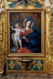 Madonna col Bambino e ini - sec. XVIII autore ignoto su macchina processionale - foto luigi anzalone