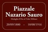 Proposta di testo della targa del Piazzale Nazario Sauro