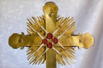 Retro del Reliquiario con i resti lignei del Sacro Crocifisso Sec. XVI Monastero Benedettine di Santa Caterina in San Sisto a Potenza Picena - Foto Sergio Ceccotti.