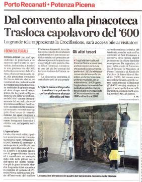 Corriere Adriatico - cronaca locale 30/9/2016