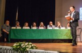 Il palco della Giuria e dell'Autorità. Quarto premio Poesia Giovanni Pastocchi - 18-9-2016. Foto di Elisa Cartuccia.
