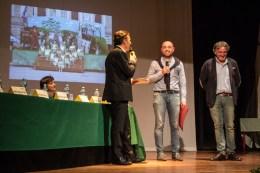 Intervento dell'Assessore Paolo Scocco insieme al Presidente Giuseppe Castagna. Quarto premio Poesia Giovanni Pastocchi - 18-9-2016. Foto di Elisa Cartuccia.