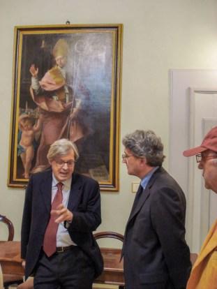Visita di Vittorio Sgarbi a Potenza Picena il 14 Aprile 2007. Sala Giunta Palazzo Municipale. Foto di Nico Coppari.