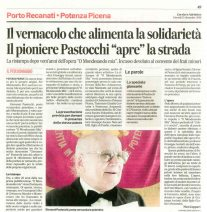 Corriere Adriatico, cronaca locale del 15-12-2016.