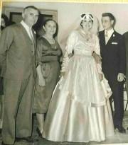 Foto matrimonio Reinaldo Augusto Carestia - Ana Elsa García- 23 aprile 1960 accompagnato da Clito Carestia - María Vicenta Moretti. Foto Nirva Ana Carestia.
