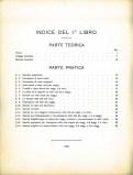 indice del libro I° del metodi di esercizi tecnici di Bruno Mugellini