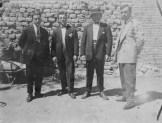 Clito Carestia primo a dx insieme ai suoi zii, i fratelli Moretti, San Juan 1929. Foto Beniamino Carestia.