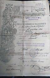 Foglio di congedo illimitato Servizio Militare; Nº de Matrícula 25321; Fecha 4-10-1925 Foto Nirva Ana Carestia.