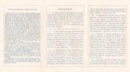 Piccolo depliant dedicato a Santa Luisa di Marillac fondatrice dell'ordine delle Figlie della Carità. ASCPP
