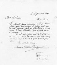 Lettera dei fratelli Mazzoni Enrico e Giovanni al Sindaco di Potenza Picena per chiedere l'asportazione del portare del Palazzo Trionfi. ASCPP