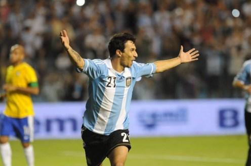 Ignacio Martin Scocco con la maglia della nazionale Argentina. Foto di Miriam Degano Sccocco.