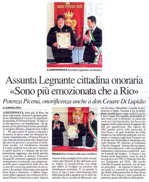 Il Resto del Carlino - cronaca di Macerata del 28/5/2017.