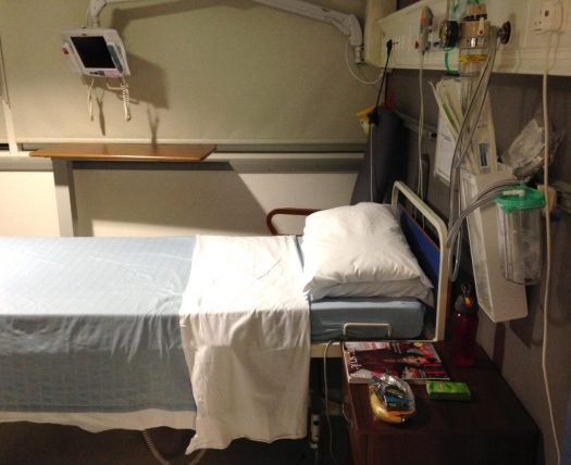 My hospital bed in private room