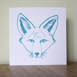 Greetings Card blue fox Isabell Schulz