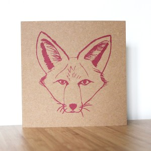 Greetings Card pink fox Isabell Schulz