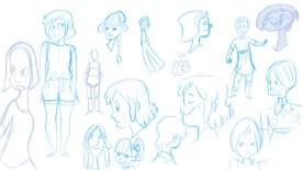 DDR Mädchen Character Design Sketches No 2 2014 (Sketchbook Pro)