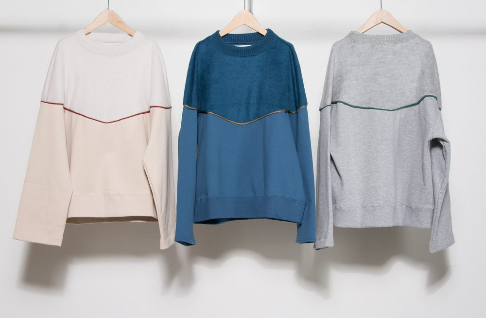Beaver knit cord switching pullover