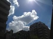 今日の雲はドラマチックだった