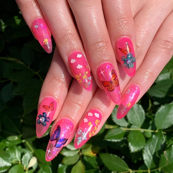 Colorful Jelly Nails - this is how we carry the new nail