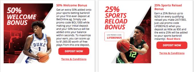 Betonline.ag Sport Welcome Bonus