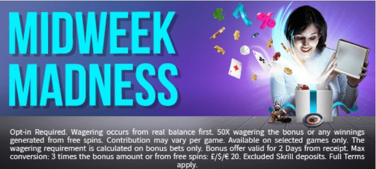 Fruity King Casino Midweek Madness