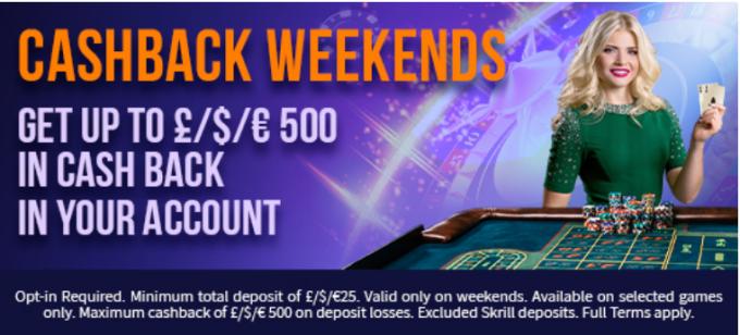 Fruity King Casino Cashback Weekends