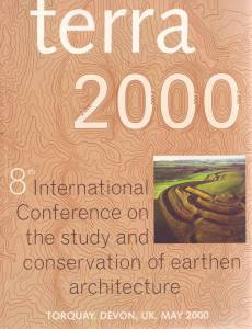 Poster for the Eighth International Conference on the Study and Conservation of Earthen Architecture (Terra 2000)
