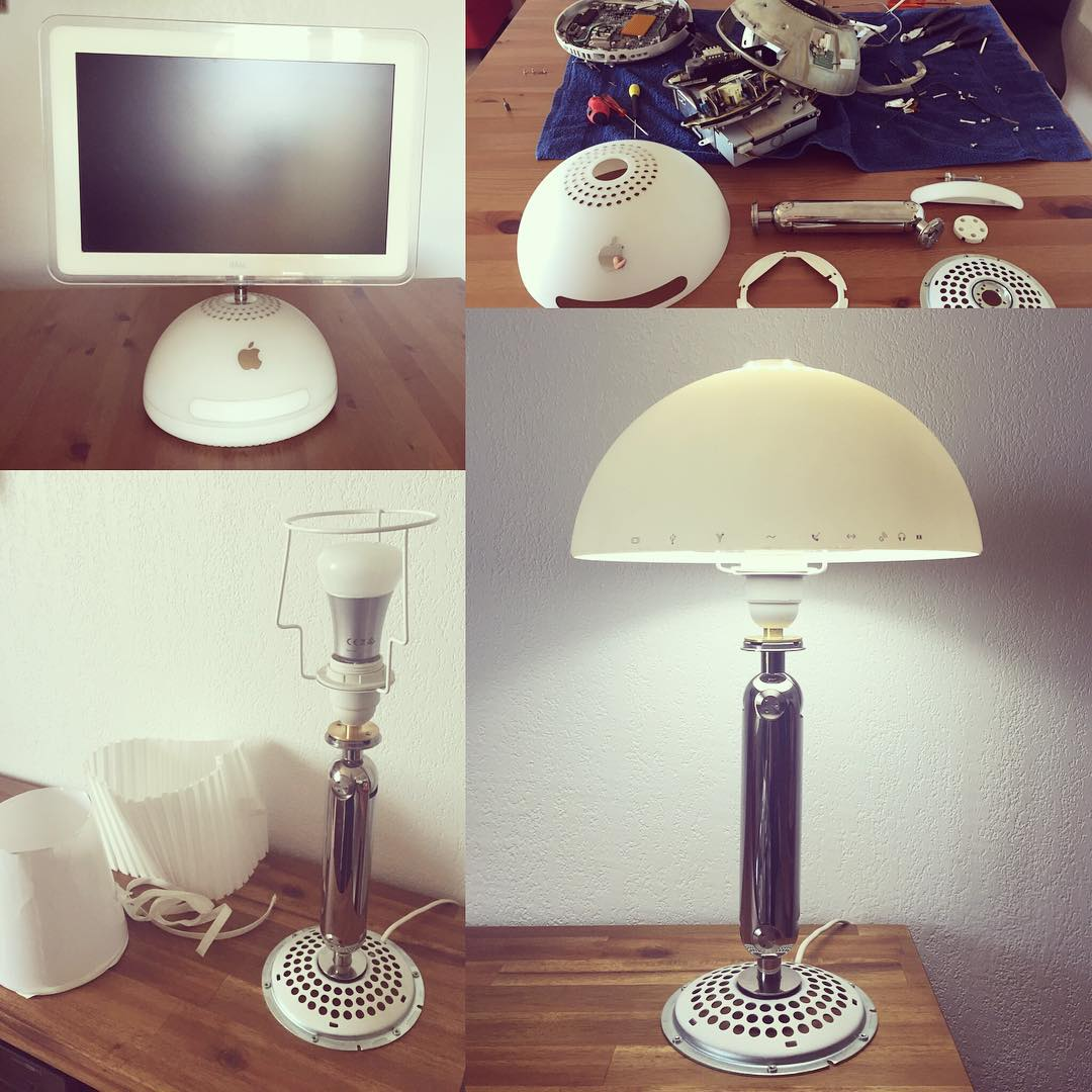 Convertir un iMac Tournesol en lampe classe