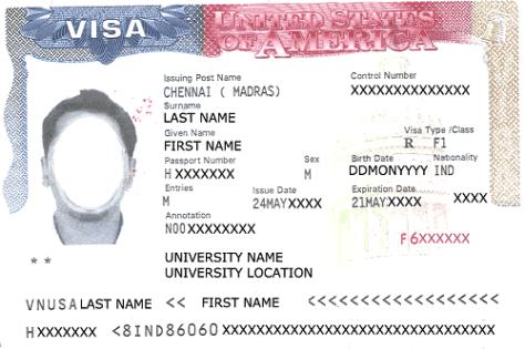 F1 student visa for USA