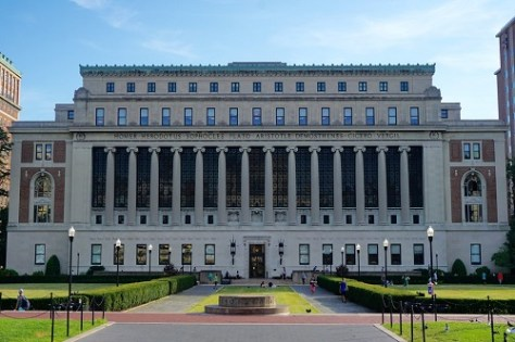 Ancient and magnificent campus building of Columbia Business School.