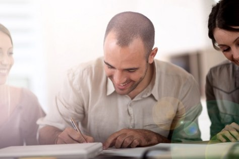 Student checking the admission requirements before applying to MS or MBA
