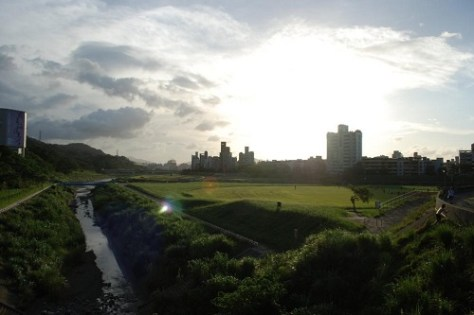 Sunset view of National Chengchi University clicked by international students in Taiwan